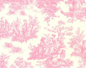 Jamestown Toile Pink White fabric Home Dec Fabric Premier Prints
