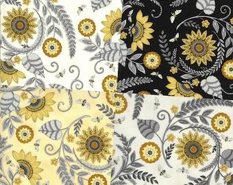 Bee Grateful Sunflower Garden fabric 19961 Deb Strain Moda fabric