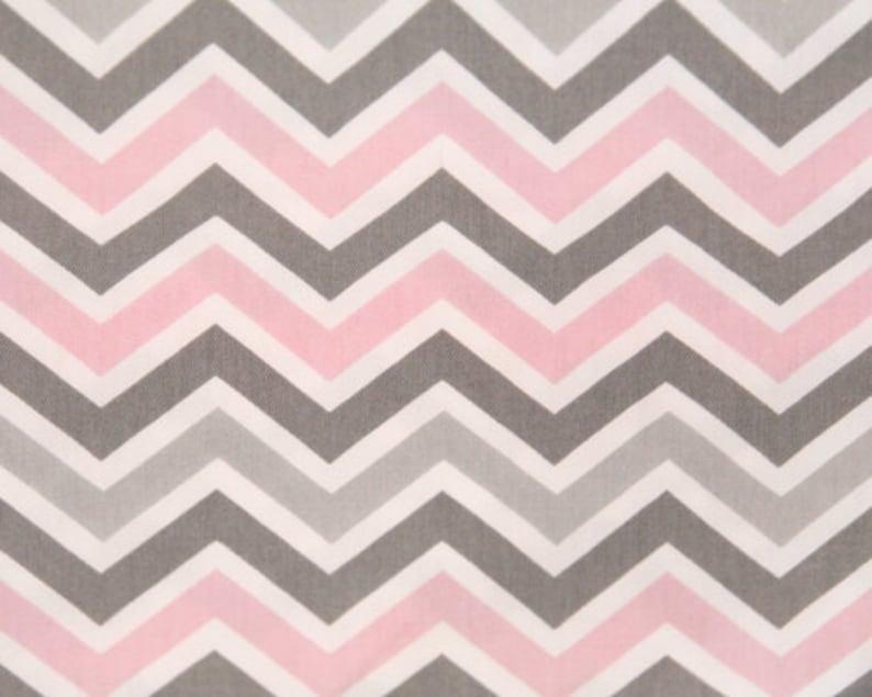 Zoom Zoom Chevron fabric Zig Zag Bella Grey Pink Premier  e534a0ff282