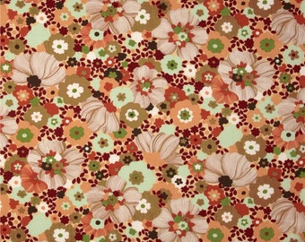 Chirp Chirp Blooms Sunset fabric   Cotton Quilt fabric   Momo 16083 11
