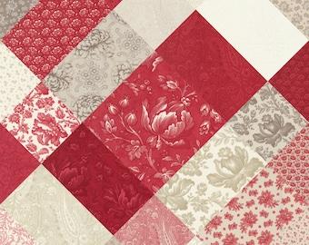 Cranberries Cream 3 Sisters fabric Cream Cranberry Set of 25 Half yards Quilting Cotton Moda fabric