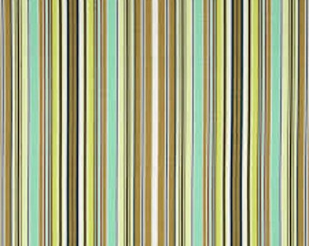 Cotton Quilting Fabric | Amy Butler fabric | Belle Oxford Stripe Okra