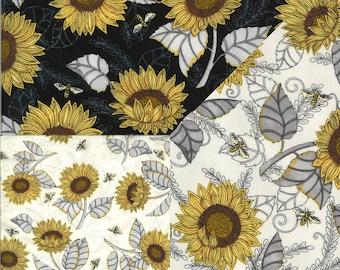 Bee Grateful Sunflower Studies fabric 19962 Deb Strain Moda fabric