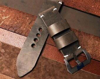 88a45696bb7a1e Vintage Uhrenarmband Leder 26 mm mit Breitdornschließe
