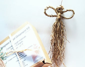 DIY Kid's Kit Angels, Ages 6 and Up, Child Craft, Natural Looking, Cornhusk Style Dolls, Fairies, Rustic, Primitive, Fairy, Make an Angel