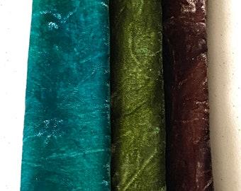 Velvet Hand Dyed, Silk Velvet Fabric