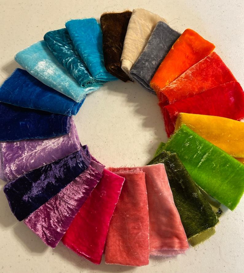 Silk Velvet fabric hand dyed silk velvet image 0