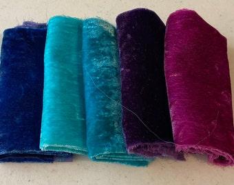 Hand Dyed Silk Velvet