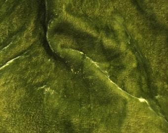 Silk Velvet fabric, hand dyed