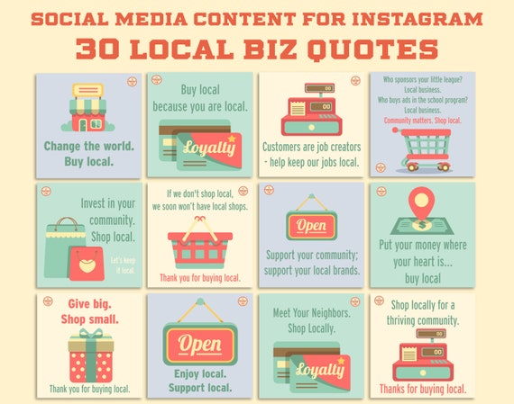Dfy Local Business Quotes Instagram 30 Pack Of Social Etsy