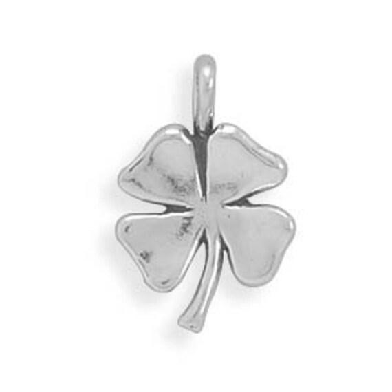 Irish Four Leaf Clover Pendant Charm Silver Celtic Luck