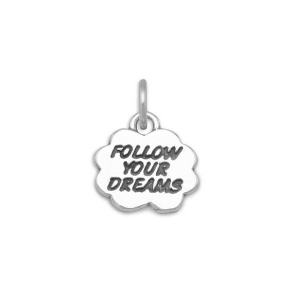 925 Sterling Silver Follow Your Dreams Charm