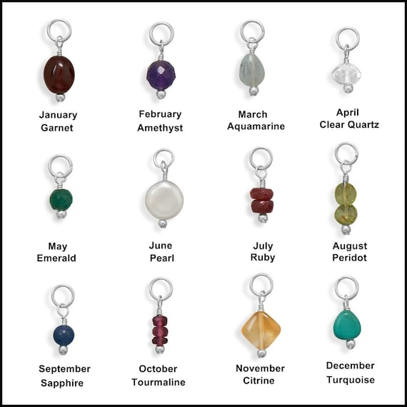 4 March birthstone charms 19 x 12mm silver tone