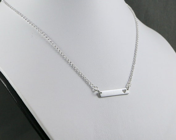 My Heart Necklace - Sterling Silver | Heart | Valentine | Minimalist