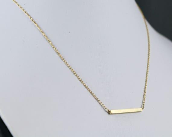 The Bar Minimalist Necklace (N250)