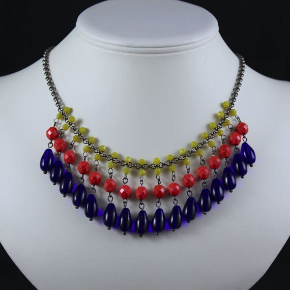 Gypsy Necklace - Czech Crystal & Gunmetal
