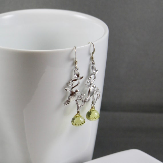 Canary Earrings - Lemon Quartz | Sterling Silver