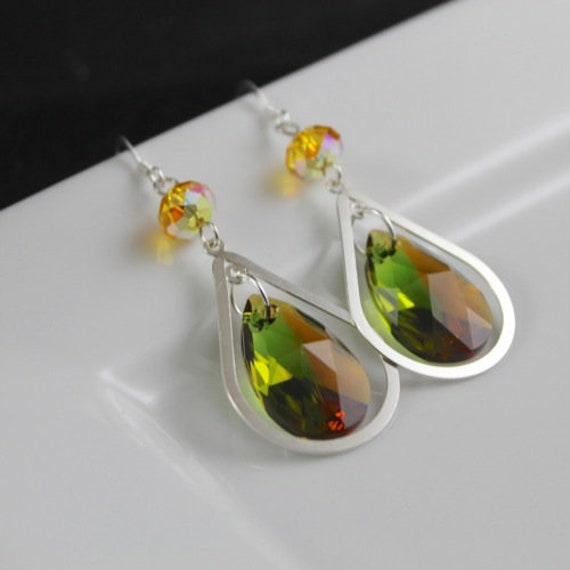 Verduous Earrings - Swarovski Crystal | Sterling Silver