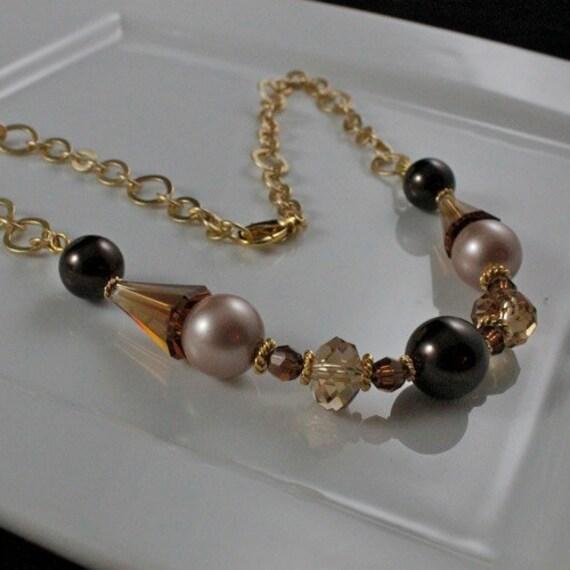 Champagne Truffle - Swarovski Crystal, Pearl, & Gold Vermeil