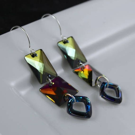Iconoclast Earrings - Swarovski Crystal & Sterling Silver