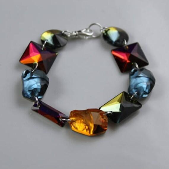 Iconoclast Bracelet - Swarovski Crystal & Sterling Silver
