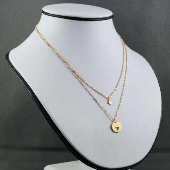 CORMEUM • 14KT Gold-fill • Sterling Silver • Mother & Daughter • Necklace Set