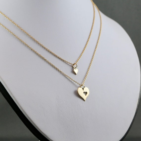 Heart to Heart - Mother & Daughter Necklace Set (Gold-fill | Sterling Silver)