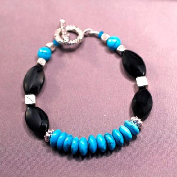 Serenity Bracelet - Black Onyx & Turquoise