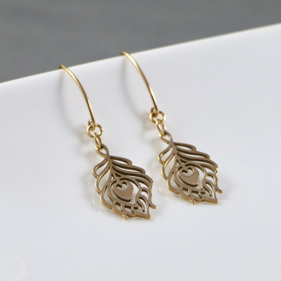 Ascension - Peacock Feather Earrings (Bronze | Sterling Silver | Nature | Yoga)