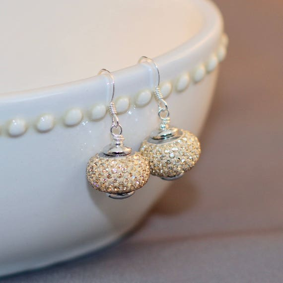 BeCharmed - Champagne Pave Earrings