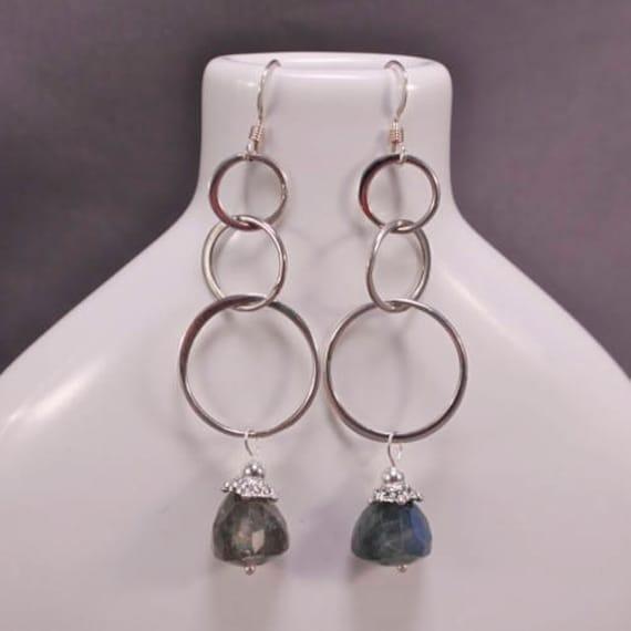 Blue Fire Drops Earrings