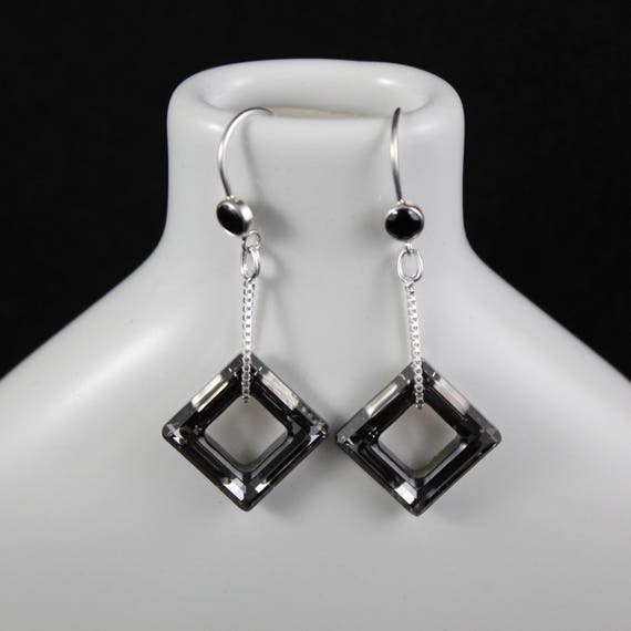 Fair & Square - Swarovski Crystal and Sterling Silver
