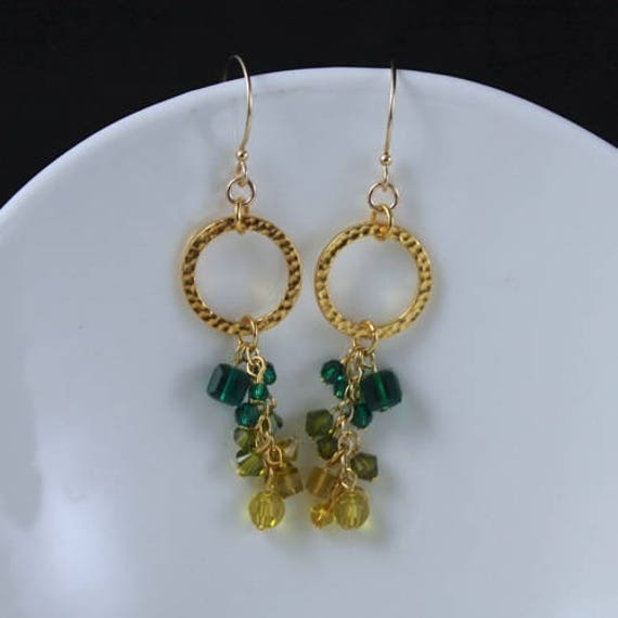Ivy Dangle Earrings - Swarovski Crystal & Gold-filled