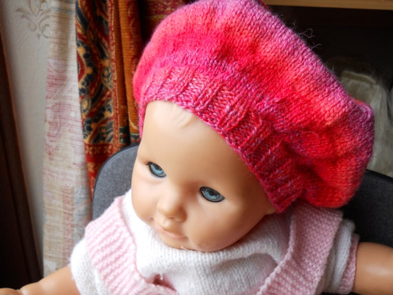 Knitted baby girl hat.  baby girl beret  100a335b5cc