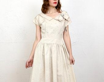 Faux Bois Grosgrain Dress SMALL