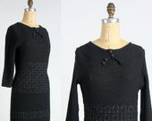 Knit Dress Ribbon Weave . 1960s