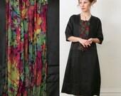 Antique Silk Dress SIZE LARGE