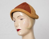 Vintage Orange Suede Hat