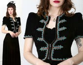 WOW 1940s Beaded Velvet Dress & Jacket