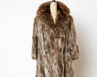 Raccoon Fur COAT 1940s . Edward Gorey Style