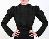 Beaded Victorian Top 1800s Blouse