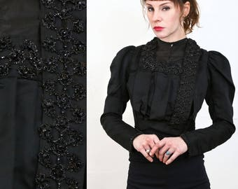 Victorian Top 1800s Beaded Blouse