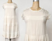 Antique White Ruffle Dress