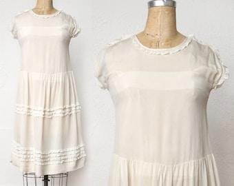 Antique White Ruffle Dress