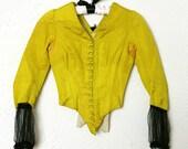 AMAZING 1800s Neon Bodice Victorian Top