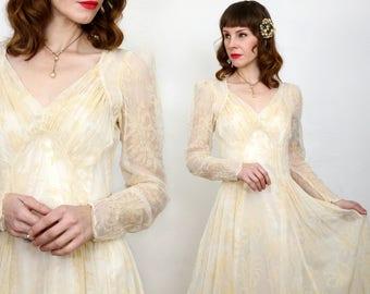 1930s Sheer Wedding Dress