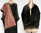 Antique Shawl . Velvet & Fringe