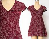 1940s Clover Print Mini Dress or Long Top