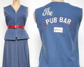 PUB BAR Skirt & Tunic Top . Vintage 2pc Set
