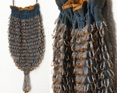 Antique Beaded Fringe Purse